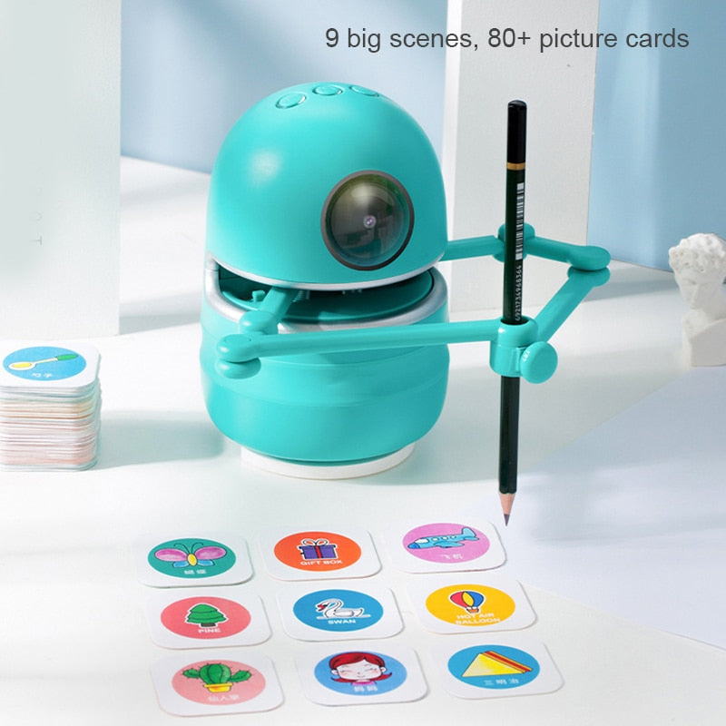 Hot Selling English version Magic Drawing Robot Kids Educational Toys Student Learning Draw Tools Robot Puzzle Toys