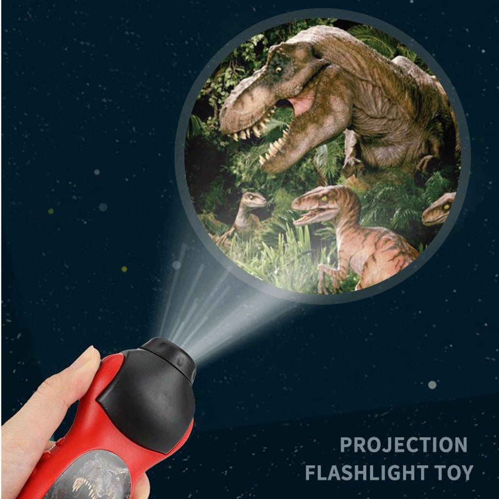 Dinosaur Wall Torch and Projector Flashlight Night Study Learning Fun Toys