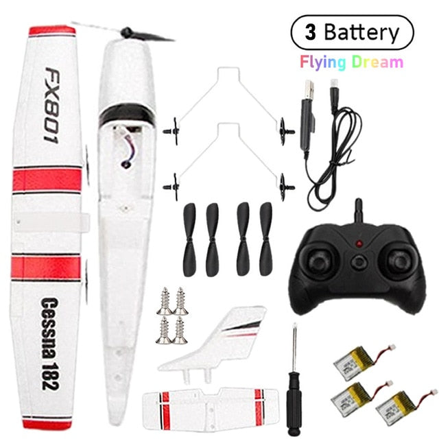 Beginner Electric Airplane RC RTF Epp Foam UAV Remote Control Glider Plane Kit Cassna 182 Aircraf More Battery Increase Fly Time
