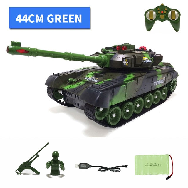 1:12 44CM Super RC tank launch cross-country tracked remote control vehicle charger battle Hobby boy toys for kids children XMAS