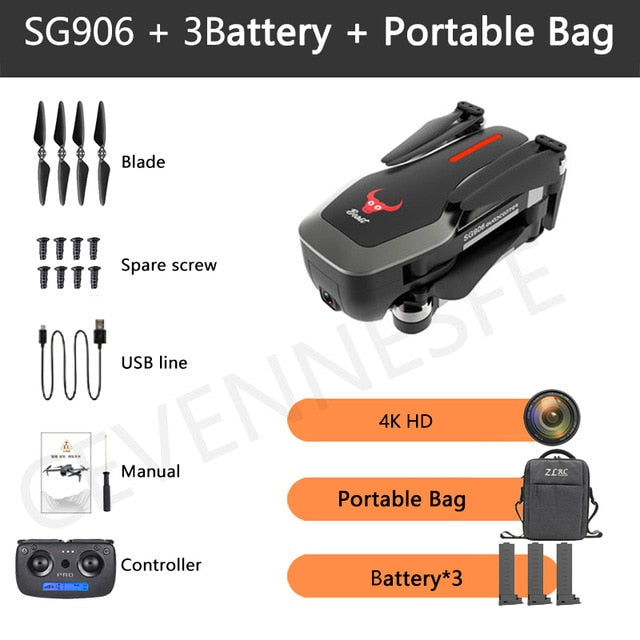 NEW SG906 / SG906 Pro 2 GPS Drone with Wifi FPV 4K Camera Three-axis anti-shake Gimbal Brushless Professional Quadcopter Dron