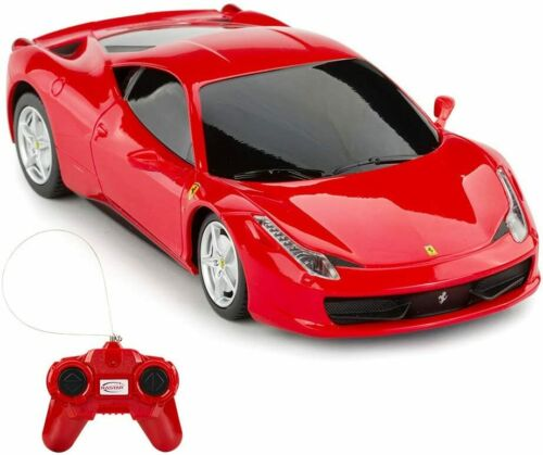 Ferrari 458 Italia Rastar 46600 R/C Remote Control Car Scale 1/18 Brilliant Red