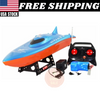 RC Balaenoptera Musculus Racing Speed Boat Radio Remote Control Blue Orange New
