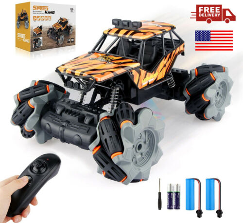 1:18 Scale Remote Control Car RC Truck Racing Monster Vehicle with 4 Batteries