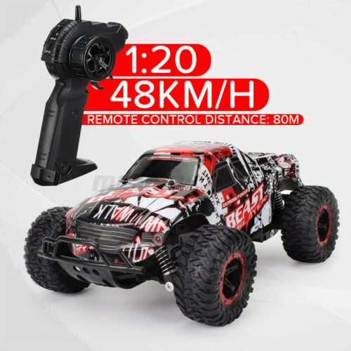 1:20 2.4GHz Remote Control Car High Speed RC Electric Monster Truck Off-Road Car