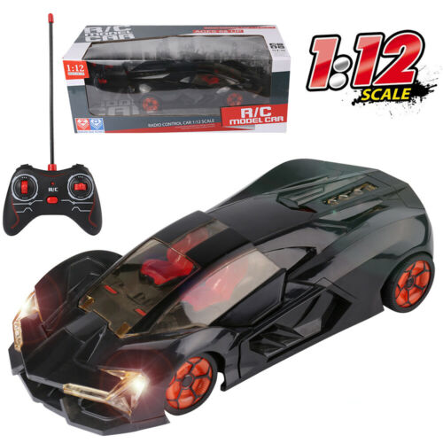 1:12 Electric RC Remote Control Model Racing Car With Open Doors Lights  Toy