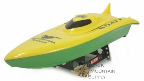 RC Speed Boat With Dual Motors - 'Killer Whale' - (Yellow)