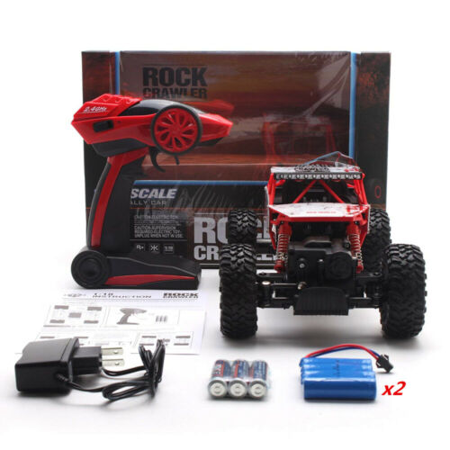 4WD RC Monster Truck 2.4Ghz Remote Control Crawler 1/18 Off-Road Car 2 Batteries