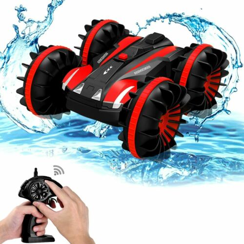 Amphibious RC Stunt Car 2.4Ghz 4WD Water & Land Remote Control Vehicle Toy