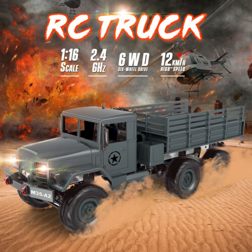 MN-77 1:16 RC Rock Crawler 2.4G Remote Control Car Off-road Army Military I5P4