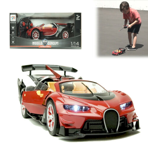 1/14 Children Remote Control Sport Toy Car Super RC Racer Model With LED Light
