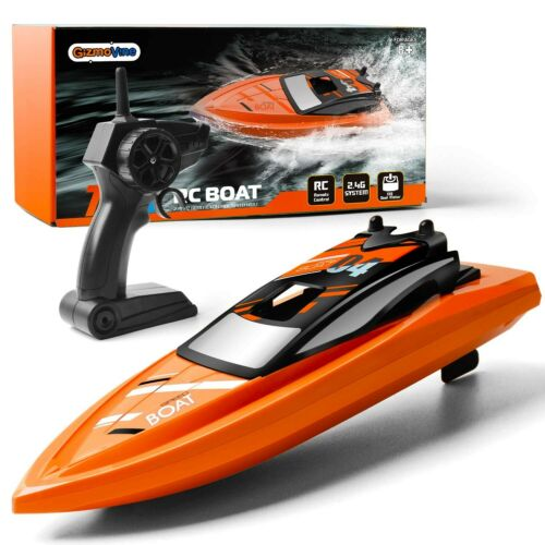Gizmovine Remote Control Boats for Pools and Lakes, 2.4GHz High Speed RC Boat...