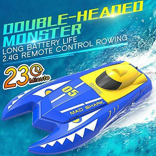 HSCOPTER Remote Control Boats for Pools and Lakes,2.4G RC Boat 15km/h High Speed