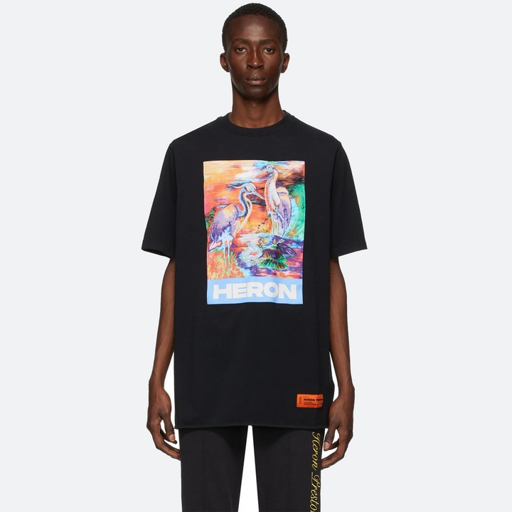 HERON PRESTON BLACK BIRD COLORS TEE