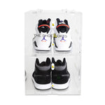 2 Pair Men's Large BDS Double Door ShoeBoxes for High Tops & Heels