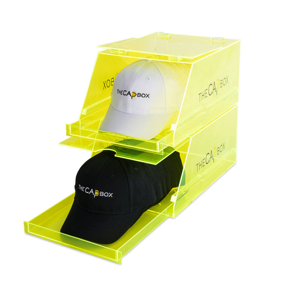 The Glasshouse CapBox Neon Yellow Transparent