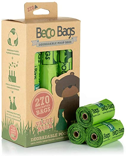 Degradable Poop Bags, Unscented, 270 Bags