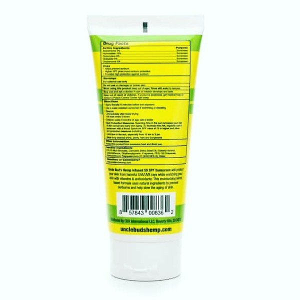Bloqueador Uncle Bud`s Sunscreen lotion SPF 50
