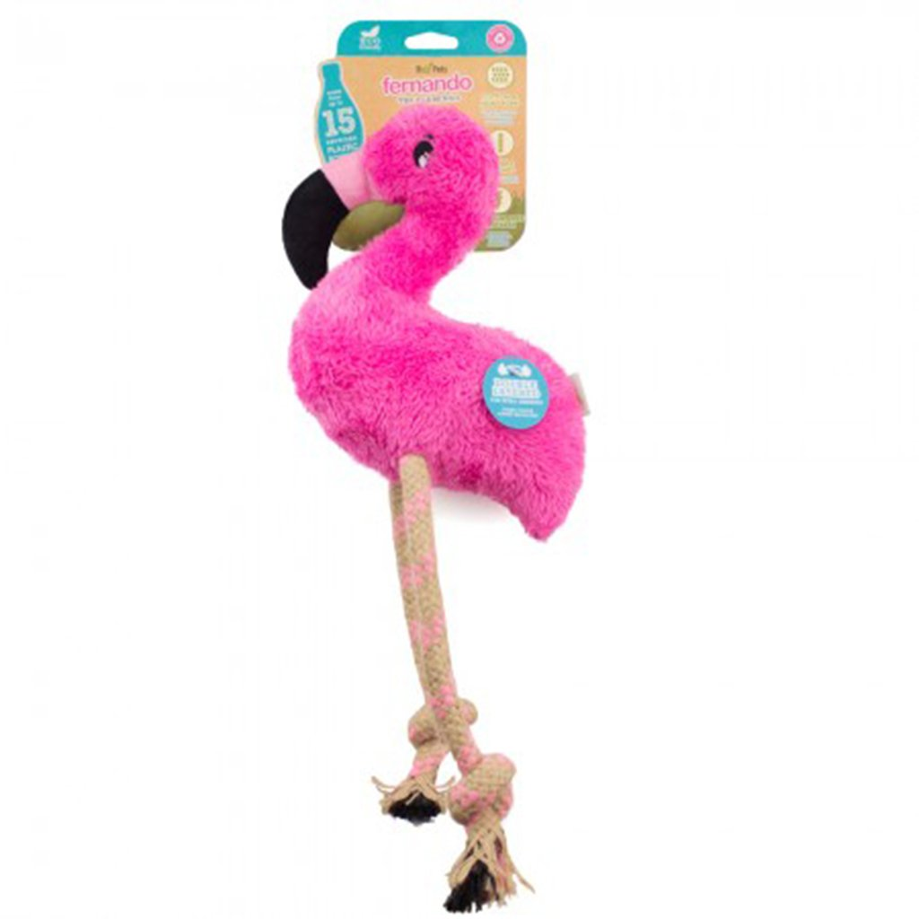 DUAL MATERIAL FLAMINGO SOFT TOY