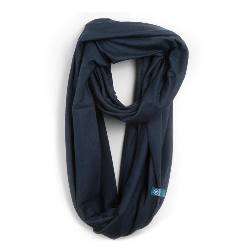 Bamboo Organic Cotton Infinity Scarf Navy