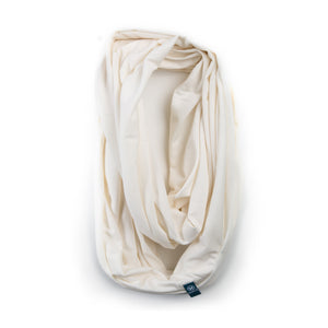 Bamboo Organic Cotton Infinity Scarf White