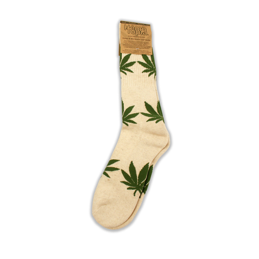 Leaf Socks, White