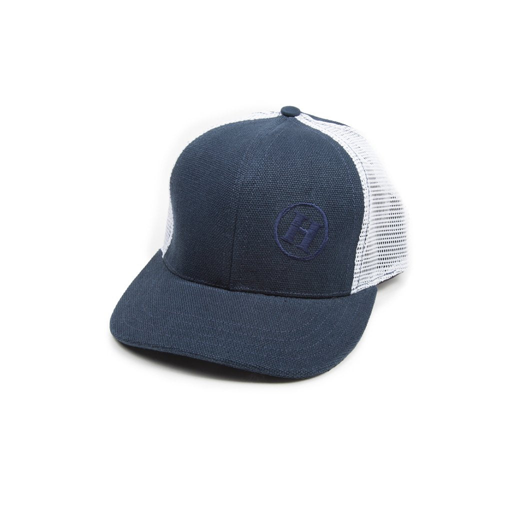 Trucker Mesh Hat Blue & White Mesh