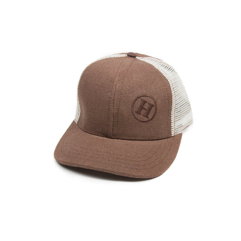 Hemp Road Tripper Trucker Mesh Hat Brown With Natural Mesh