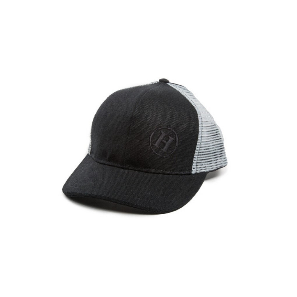 Trucker Mesh Hat Black & Light Gray Mesh