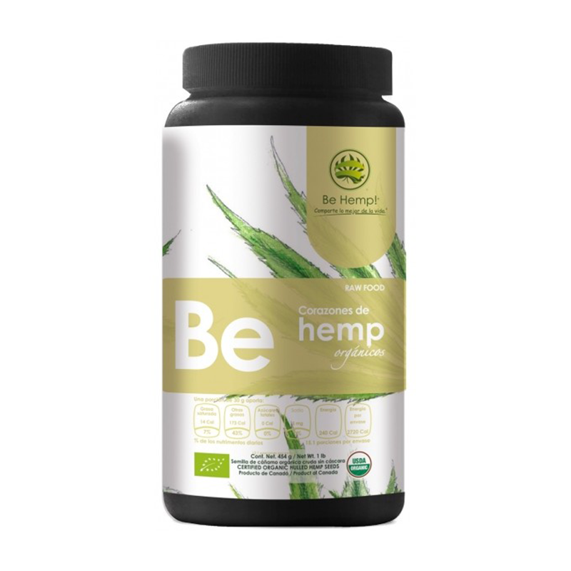 Be Hemp! Raw Organic, Hemp Hearts, 1LB