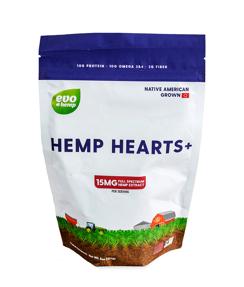 Evo Hemp Hearts Plus CBD, 8oz