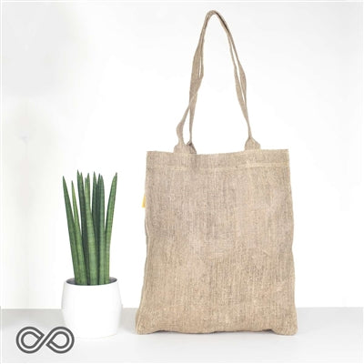 HEMP BURLAP SHOPPING BAG