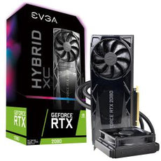 EVGA GeForce RTX 2080 Graphic Card, FTW3 Ultra Hybrid Gaming Graphic Card, 8 GB GDDR6, 1.86 GHz Core, 256 bit Memory Bus Width, DisplayPort, HDMI, USB Type-C - 08G-P4-2284-KR