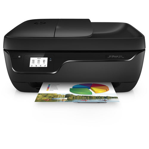 HP OfficeJet 3830 Inkjet All-in-One Printer, 8.5 ppm Black, 6 ppm Color, 4800 x 1200 dpi, 512 MB Memory, WiFi, Hi-Speed USB 2.0, Duplex Printing - K7V40A#B1H