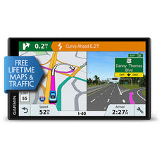 "Garmin DriveSmart 61 LMT-S Automobile Portable GPS Navigator, 7"" Touchscreen Color Display, Mountable, Black - 010-01681-02"