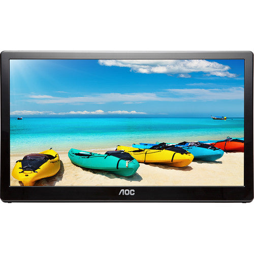 "AOC I1659FWUX 15.6"" Full HD Portable LED Monitor, 25ms, 16:9, 700:1-Contrast, Black - I1659FWUX-B"