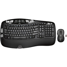 Logitech MK550 Wireless Wave Keyboard/Laser Mouse Combo, USB, RF, Laser Mouse, Scroll Wheel, Black - 920-002555 (Certified Refurbished)
