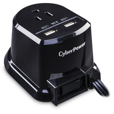 CyberPower Professional Dual-USB Power Station, 1 Outlet, 2 USB Ports, 2.1A of Shared Power - CSP105U