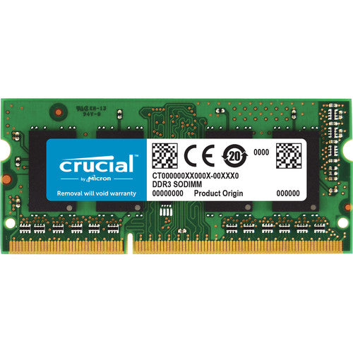 Crucial 4GB DDR3-1066 Non-ECC SODIMM RAM, 204-pin Memory Module for Mac- CT4G3S1067M