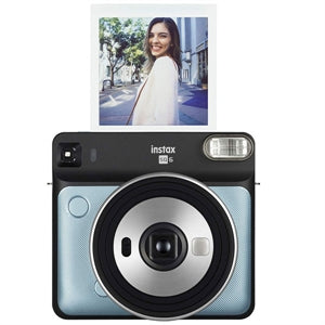 Fujifilm Instax SQUARE SQ6 Instant Camera, Instant Film, Metallic Blue- 16601430