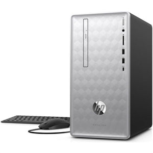 HP Pavilion 590-p0030 Desktop PC, MT, Intel Core i3, 3.60GHz, 8GB RAM, 1TB SATA, Windows 10 Home - 3LA14AA#ABA (Certified Refurbished)