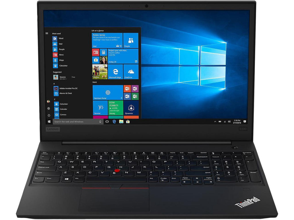 "Lenovo ThinkPad E590 15.6"" HD Business Notebook, Intel i5, 1.60GHz, 4GB RAM, 500GB HDD, Windows 10 Pro 64-Bit- 20NB005MUS"