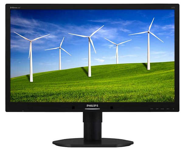 "Philips 22"" WSXGA LCD Computer Monitor, LED Display, 16:10, 5ms, 20M:1-Contrast, Speakers, Black- 220B4LPCB-B"