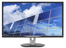 "Philips 31.5"" Quad HD LCD Computer Monitor, IPS LED Display, 16:9, 5ms, 50M:1-Contrast, Speakers, Black/Silver- 328B6QJEB-B"