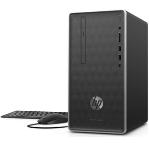 HP Pavilion 590-p0024 Desktop Mini Tower PC, AMD Ryzen 3 2200G, 3.5 GHz, 8GB RAM, 1TB HDD SATA, Windows 10 Home- 64Bit - 3LA53AA#ABA (Certified Refurbished)
