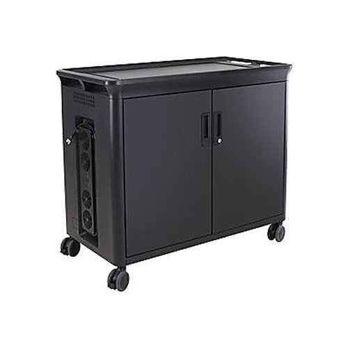 HP 30 Charging Cart V2 for Notebooks, 30 Notebook Storage Compartments, Lockable Rolling Cart, Black  - T9E86AA#ABA