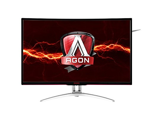 "AOC AGON 31.5"" Quad HD Curved Gaming Monitor, LED Display, 4MS-Response, 16:9, 50M:1-Contrast, Tilt/Swivel/Height-adjustment, Speakers, Black - AG322QCX-B (Certified Refurbished)"