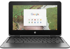 "HP Chromebook x360 11 G1 EE 11.6"" HD (Touchscreen) Convertible Notebook, Intel Celeron N3350, 1.10GHz, 4GB RAM, 32GB eMMC, Chrome OS - 2DQ88UT#ABA"