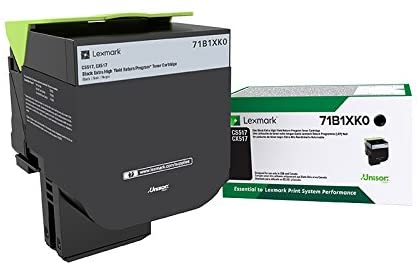 Lexmark Black Extra High Yield Return Program Toner Cartridge, 8000 Pages Yield - 71B1XK0