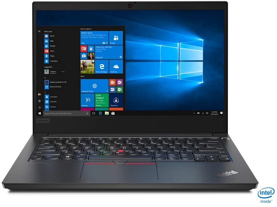 "Lenovo ThinkPad E14 14"" FHD Notebook, Intel i7-10510U, 1.80GHz, 8GB RAM, 256GB SSD, Win10P - 20RA0050US"